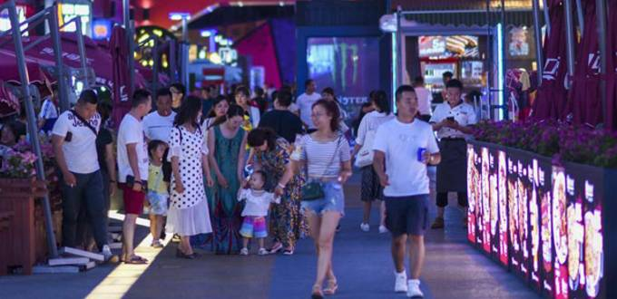 Night-time economy picks up in NW China's Urumqi