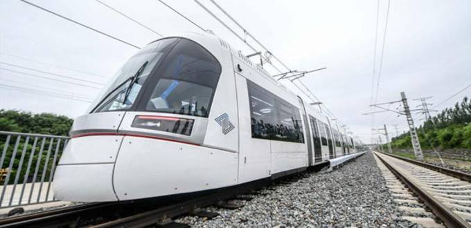 Explosion-proof light rail train rolls off assembly line in Changchun