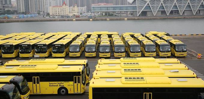 Chinese automaker delivers school buses to Saudi Arabia