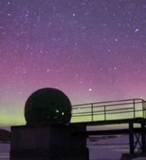 Southern Lights over Antarctic Zhongshan Station